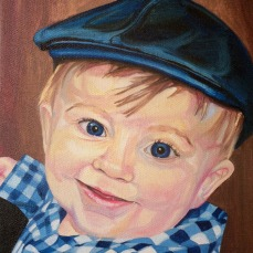 "Blue William, 2014, Oil on Canvas, 12x9"", Krystal Booth."