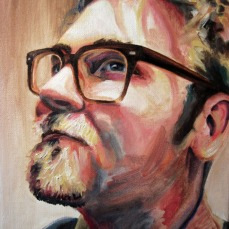"Portrait of Matthew, 2013, Oil on Canvas, 12x9"", Krystal Booth."