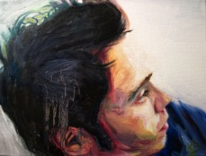 "Portrait of Samm, 2013, Oil on Canvas, 9x12"", Krystal Booth."